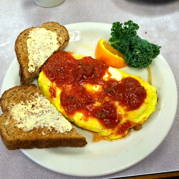 Garden Omelet and Toast