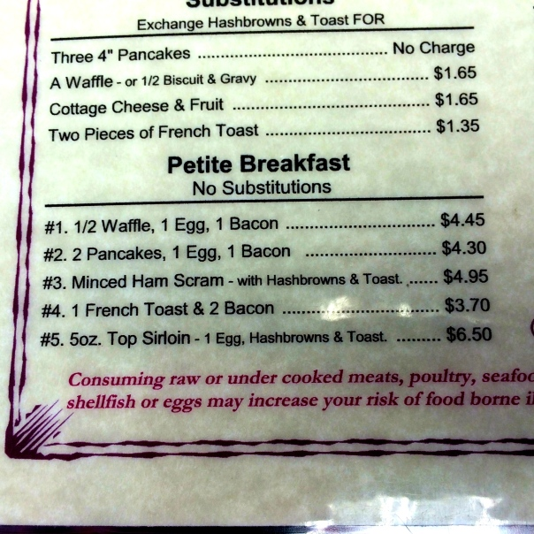 Petite Breakfast Section